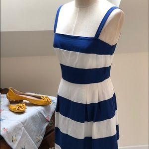 Loft size 6 blue and white sun dress